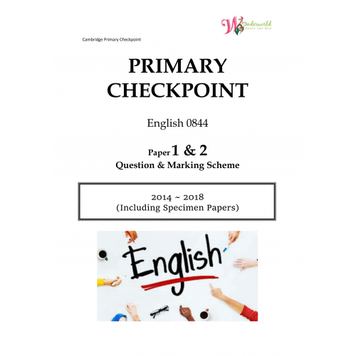 Primary Checkpoint English 0844 | Paper 1 & 2 | Question & Marking Scheme