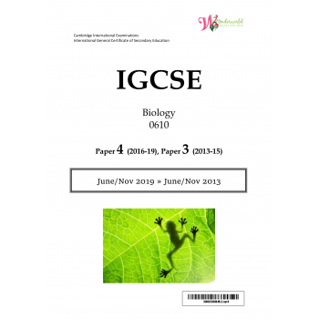 IGCSE Biology 0610 | Paper 4 | Question Papers