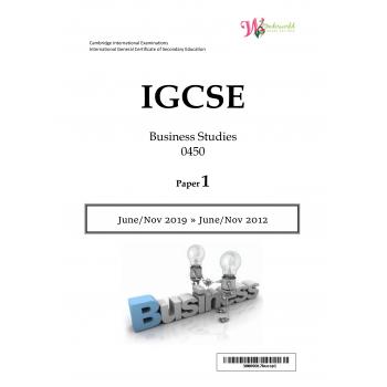IGCSE Business Studies 0450 | Paper 1 | Question Papers