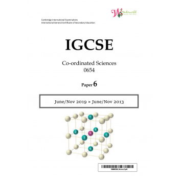 IGCSE Co-ordinated Sciences 0654 | Paper 6 | Question Papers