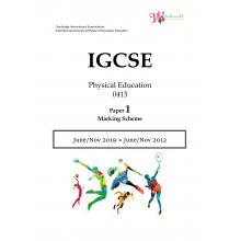 IGCSE Physical Education 0413 | Paper 1 | Marking Scheme
