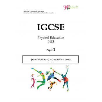 IGCSE Physical Education 0413 | Paper 1 | Question Paper