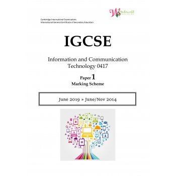 IGCSE Information and Communication Technology 0417 | Paper 1 | Marking Scheme