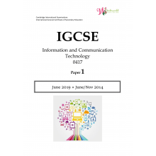 IGCSE Information and Communication Technology 0417 | Paper 1 | Question Paper