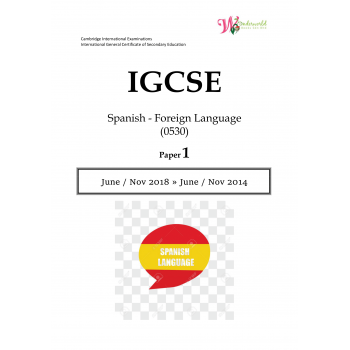 IGCSE Spanish - Foreign Language 0530 | Paper 1 | Question Paper