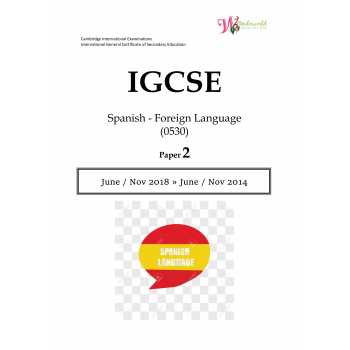 IGCSE Spanish - Foreign Language 0530 | Paper 2 | Question Paper