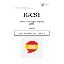 IGCSE Spanish - Foreign Language 0530 | Paper 4 | Question Paper