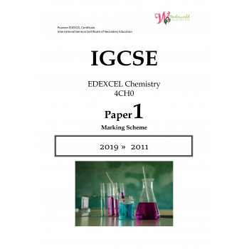 IGCSE Edexcel Chemistry 4CH0 | Paper 1 | Marking Scheme