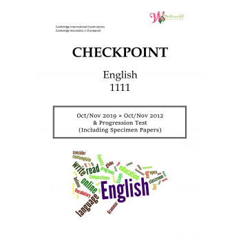 Lower Secondary Checkpoint English 1111 | Question & Marking Scheme