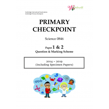Primary Checkpoint Science 0846| Paper 1 & 2 | Question & Marking Scheme