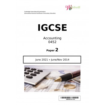 IGCSE Accounting 0452 | Paper 2 | Question Papers