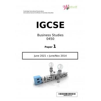 IGCSE Business Studies 0450   Paper 1   Question Papers