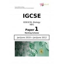 IGCSE Edexcel Biology 4BI1   Paper 1   Marking Scheme
