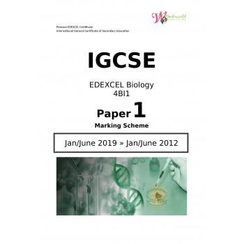 IGCSE Edexcel Biology 4BI1 | Paper 1 | Marking Scheme