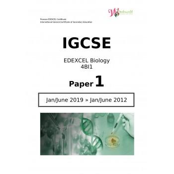 IGCSE Edexcel Biology 4BI1   Paper 1   Question Papers