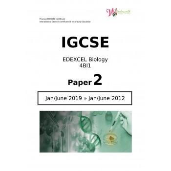 IGCSE Edexcel Biology 4BI1   Paper 2   Question Papers