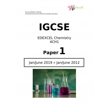IGCSE Edexcel Chemistry 4CH1   Paper 1   Question Papers