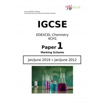 IGCSE Edexcel Chemistry 4CH1   Paper 1   Marking Scheme