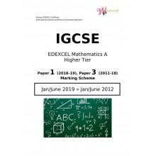 IGCSE Edexcel Mathematics A Higher Tier | Paper 1 | Marking Scheme