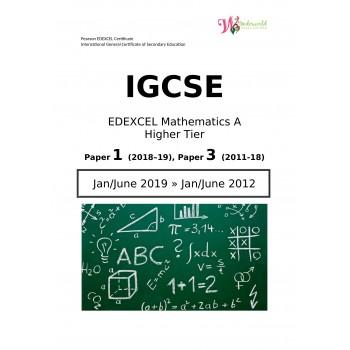 IGCSE Edexcel Mathematics A Higher Tier  Paper 1  Question Papers