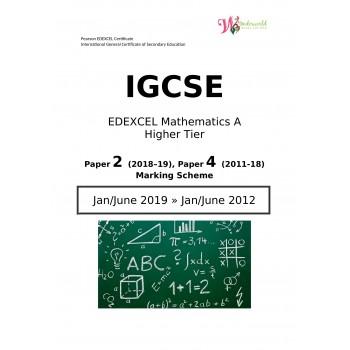IGCSE Edexcel Mathematics A Higher Tier  Paper 2   Marking Scheme