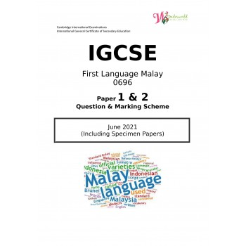 IGCSE First Language Malay 0696 | Paper 1 & 2 | Question & Marking Papers