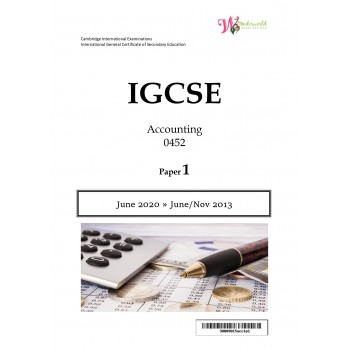 IGCSE Accounting 0452 | Paper 1 | Question Papers