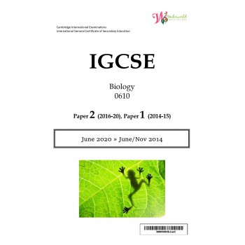 IGCSE Biology 0610 | Paper 2 | Question Papers
