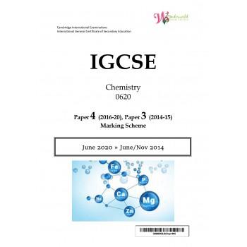 IGCSE Chemistry 0620 | Paper 4 | Marking Scheme