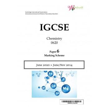 IGCSE Chemistry 0620 | Paper 6 | Marking Scheme