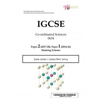 IGCSE Co-ordinated Sciences 0654 | Paper 2 | Marking Scheme