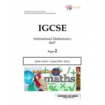 IGCSE International Mathematics 0607 | Paper 2 | Question Papers