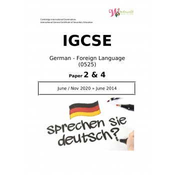 IGCSE German - Foreign Language 0525 | Paper 2 & 4 | Question Paper