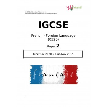 IGCSE French - Foreign Language 0520 | Paper 2 | Question Paper