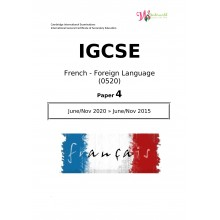 IGCSE French - Foreign Language 0520 | Paper 4 | Question Paper