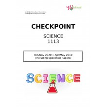 Lower Secondary Checkpoint Science 1113   Question & Marking Scheme