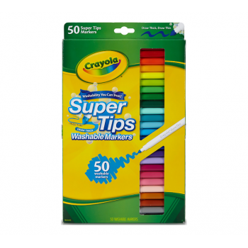 Crayola Washable Super Tips Markers | 50 Count