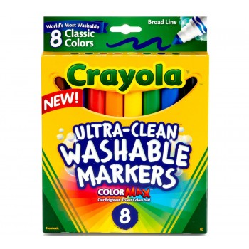 Crayola Ultra-Clean Washable Markers, Broad Line 8