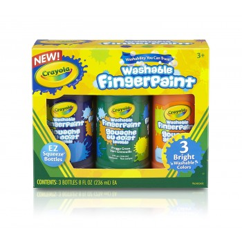 Crayola Washable Bright Fingerpaint, Secondary Colors 3
