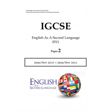IGCSE English As A Second Language 0511 | Paper 2 | Question Papers