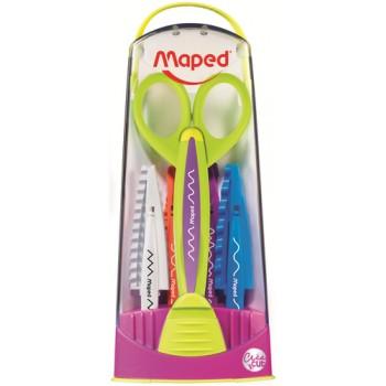 Zig Zag Scissors With 5 Assorted Blades