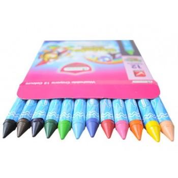 MasterArt 12 colour washable jumbo wax crayons