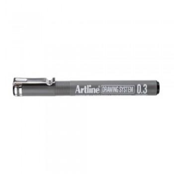 Artline Black Drawing System Pen 0.3mm (EK-233)