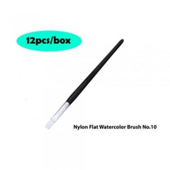 Nylon Flat Watercolor Brush No.10 - 12pcs/box