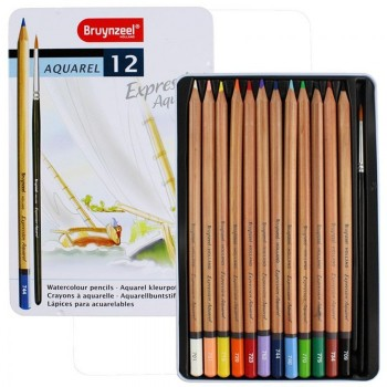 BRUYNZEEL EXPRESSION AQUARELLE PENCILS TIN 12
