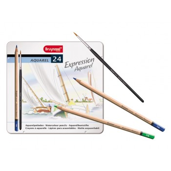 BRUYNZEEL EXPRESSION AQUARELLE PENCILS TIN 24