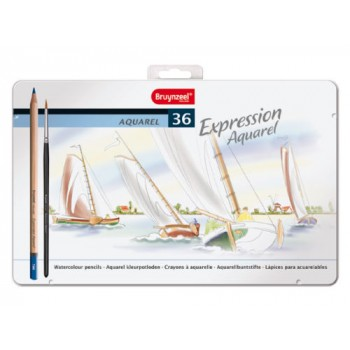 BRUYNZEEL EXPRESSION AQUARELLE PENCILS TIN 36