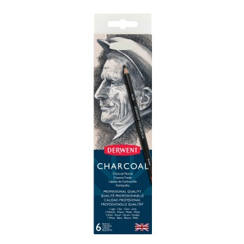 Derwent Charcoal Pencils 6 Tin