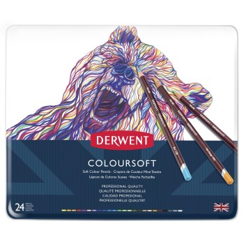 Derwent Coloursoft Pencils 24 Tin