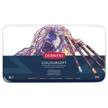 Derwent Coloursoft Pencils 36 Tin